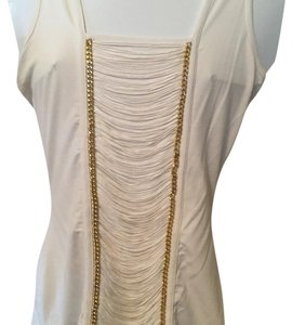 Cache Ivory Top With Gold Embellishments Top Ivory