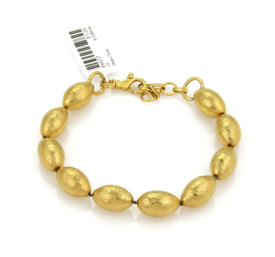 gurhan 20690 cocoon hand hammered 24k gold beaded bracelet tradesy