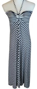INC International Concepts short dress Blue and white on Tradesy