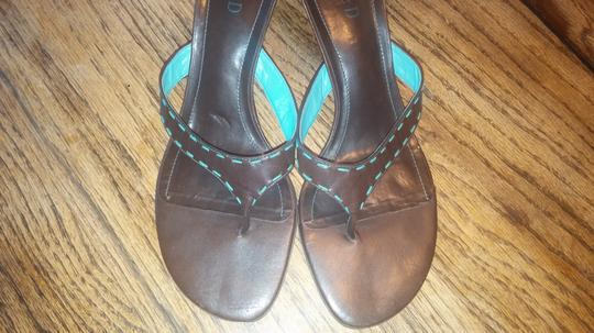 Michelle D Brown with turquoise Sandals