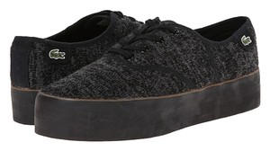 Lacoste Black Textile Platform Women Athletic