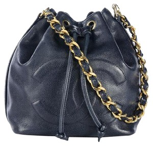 ae0e03c3b3ea Added to Shopping Bag. Chanel Vintage Bucket Lambskin Shoulder Bag. Chanel  Drawstring ...
