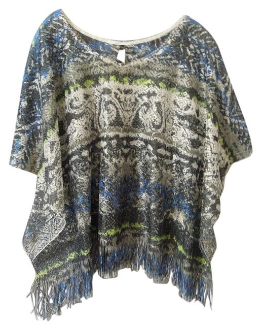 Item - Blue and Multi #t17207 Cardigan Size 10 (M)