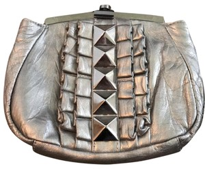 Betsey Johnson Pewter Clutch