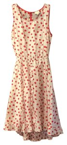 Anthropologie short dress white with red polka dots on Tradesy