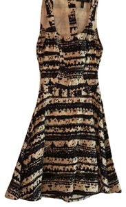 Jessica Simpson short dress black/white on Tradesy