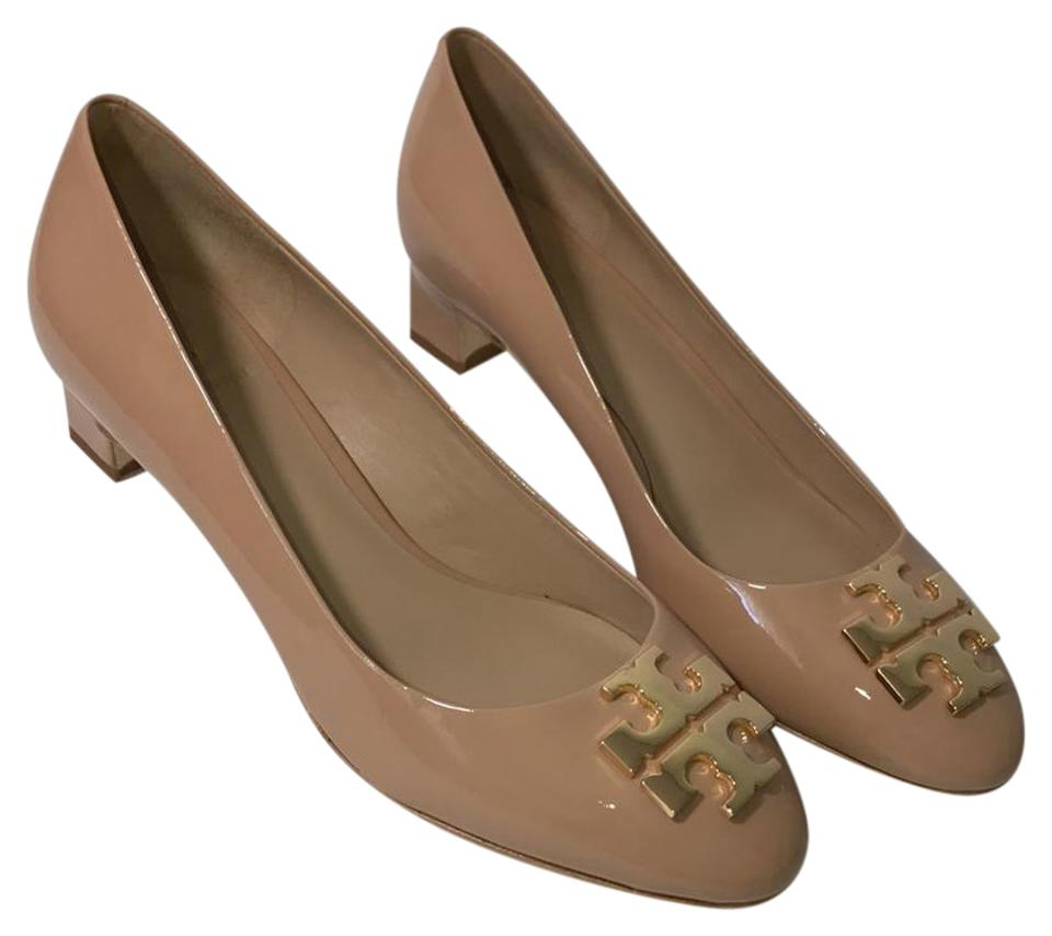 a2cccba4e12 Tory Burch Beige Raleigh 40mm Pump  Patent Leather Pumps Size US 7 ...