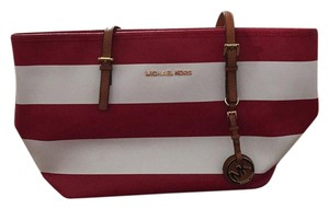 Michael Kors Tote in Red and white stripe
