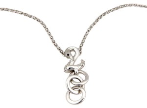 Carrera y Carrera 13733 - Diamond 18k White Gold Swan Pendant Necklace