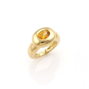 Fred of Paris Citrine 18k Yellow Gold Fancy Oval Ring