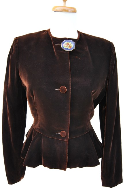 Preload https://item2.tradesy.com/images/pierre-cardin-redbrown-vintage-night-out-top-size-8-m-2141616-0-0.jpg?width=400&height=650