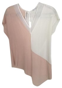 Zara Short Sleeve Angled Top Pink/Ivory