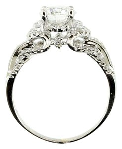 G Vs2 3.45 Cts Round Gia Certified In 18k White Gold Engagement Ring