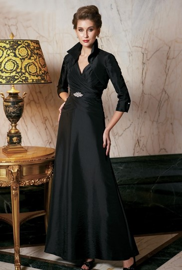 Jade Couture Black Formal Bridesmaid/Mob Dress Size 12 (L) Image 0