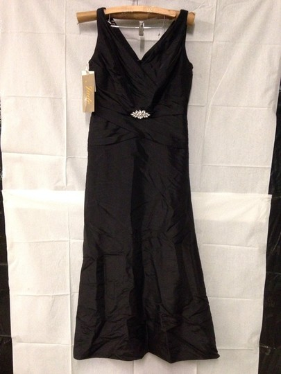 Jade Couture Black Formal Bridesmaid/Mob Dress Size 12 (L) Image 1