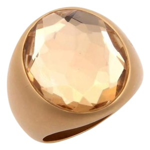 Pomellato Narciso Large Quartz 18k Gold Ring