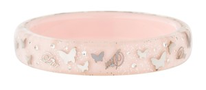 Christian Dior Silver-tone Christian Dior crystal logo star pink resin bangle