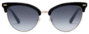 Gucci Gucci cat eye acetate and metal sunglasses