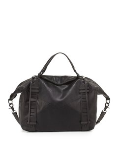French Connection Moto European Gym Tote Satchel in black