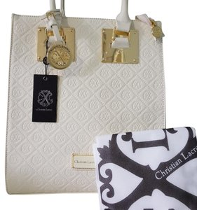 Christian Lacroix Ivory Beach Bag