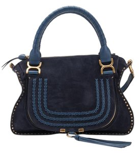 Chlo Satchel in Navy