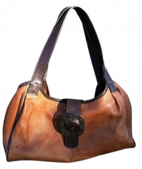 Preload https://item3.tradesy.com/images/fossil-leather-vintage-handbag-tan-dark-brown-shoulder-bag-21417-0-0.jpg?width=440&height=440