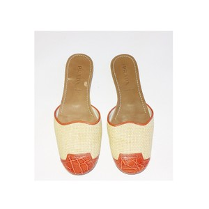 Prada Orange Cream Sandals