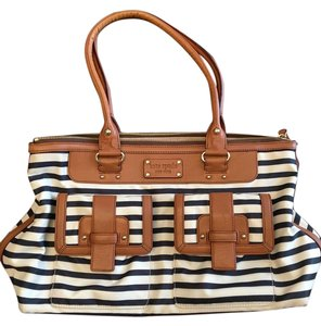 Kate Spade Nautical Tote in Blue and white stripe