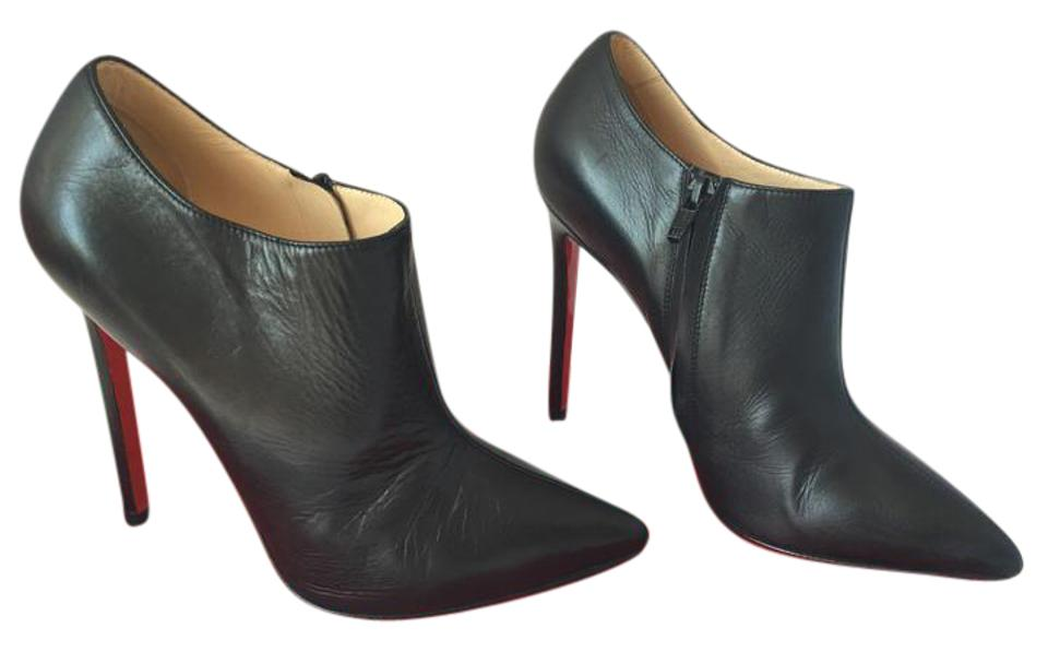 28d90bc4990 Christian Louboutin Pigalle Pumps Spikes Studs Daffodile Ankle Black Boots  Image 0 ...