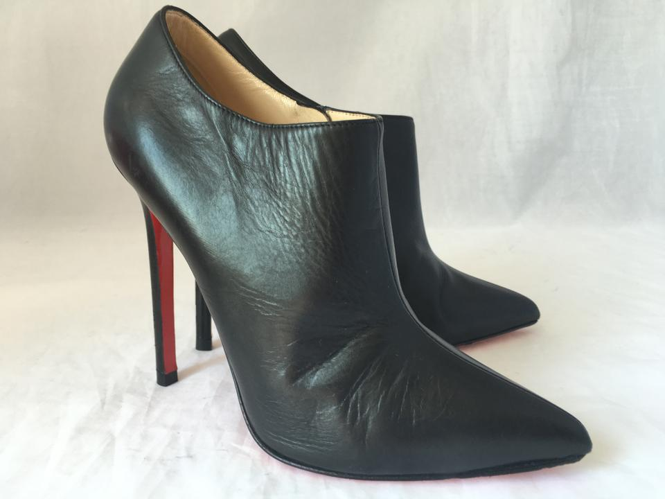 96698575e3e ... Black Zip Boots High Heel 37 Booties Toe Dahlia Ankle Louboutin Sole  Lady Fashion Leather Christian ...