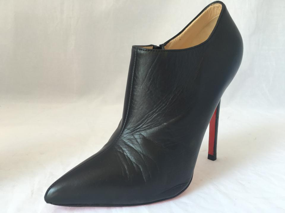 872538cc378 Christian Louboutin Black 37it Dahlia Leather High Heel Zip Lady ...