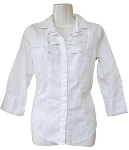 Calvin Klein Button Business Shirt Cotton Classic Button Down Shirt white