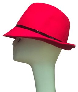 Scala Scala red Wool Classic Fedora ladies Formal Hat society
