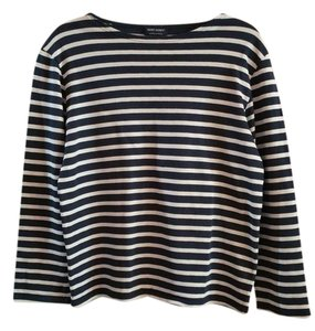 Saint James Breton Sweater T Shirt Navy White Stripe