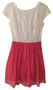 B. Darlin short dress light red and white on Tradesy
