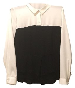 Eloquii Top Ivory and black