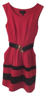 BCX short dress red and black on Tradesy