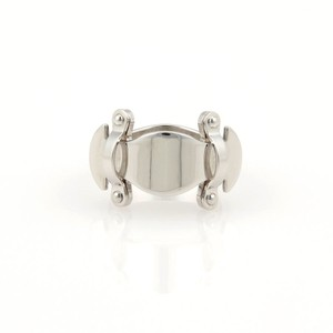 Louis Vuitton 18K White Gold Fancy Buckle Style Ring