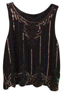 Forever 21 Top grey with silver beads