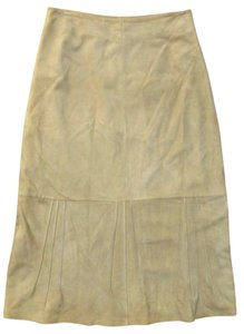 Margaret O'Leary Leary Suede Luxury Skirt Camel