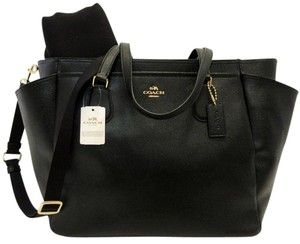 Coach Black, Gold Diaper Bag