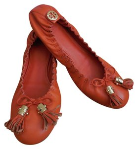 Tory Burch Reva Ballet Reese 10 orange Flats