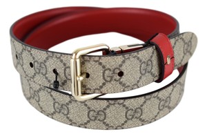 Gucci Gucci 391271 Women's Reversible Belt - Brown/Red 95/38