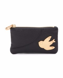 Marc by Marc Jacobs Nwt Petal To The Metal Leather Key Pouch Black Gold