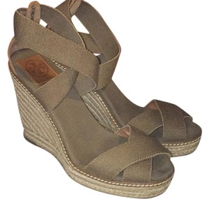Tory Burch olive Wedges
