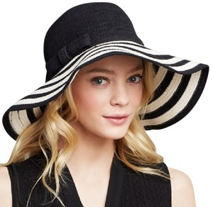 Kate Spade Chic striped hat with grosgrain ribbon and bow