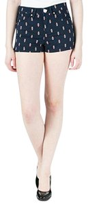Juicy Couture Printed Mini/Short Shorts Navy Multi
