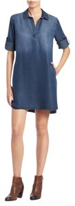 Anthropologie short dress Denim Good In Comfortable Great Material Cloth&stone on Tradesy