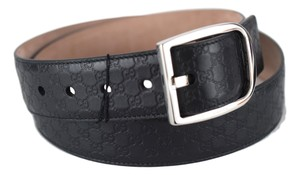 Gucci Gucci Men's 449716 Black Leather GG Guccissima Belt 105-42