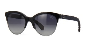 Chanel NEW Chanel Spring Pantos 5342A Black Denim Polarized Sunglasses